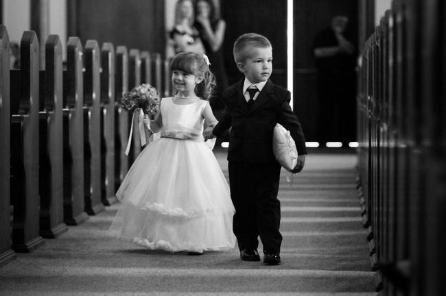 Daminha e pajen na igreja