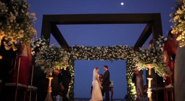 casamento na praia da Virna e do Alexandre