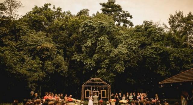 casamento ao ar livre Kétti e William